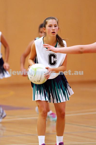 11-10-15. Maccabi Australia 90th Anniversary Insterstate Challenge. Bialik College. Victoria v NSW. U14 Netball. Photo: Peter Haskin