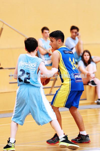 11-10-15. Maccabi Australia 90th Anniversary Insterstate Challenge. Bialik College. Victoria v NSW. U14 Boys Basketball. Photo: Peter Haskin