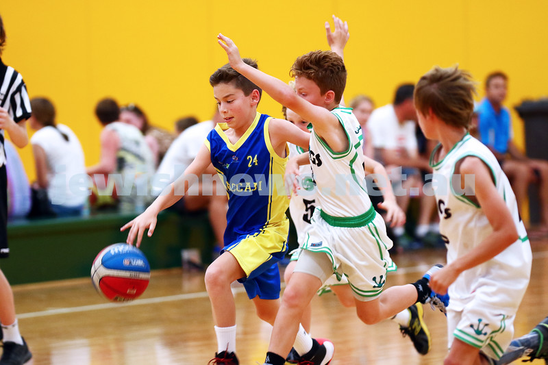 13-2-16. Maccabi Junior Basketball. Maccabi U 12 Spurs def Chadstone Frogs 19-16. Photo: Peter Haskin