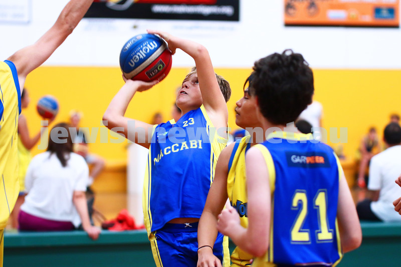 13-2-16. Basketball. Maccabi Under 14 Bulls lost to Timberwolves Giants 27 - 36. Photo: Peter Haskin