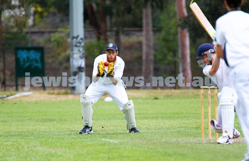 1-11-15. Maccabi cricket 2nds def  Mannix Old Collegians at David Mandie Oval. Photo: Peter Haskin