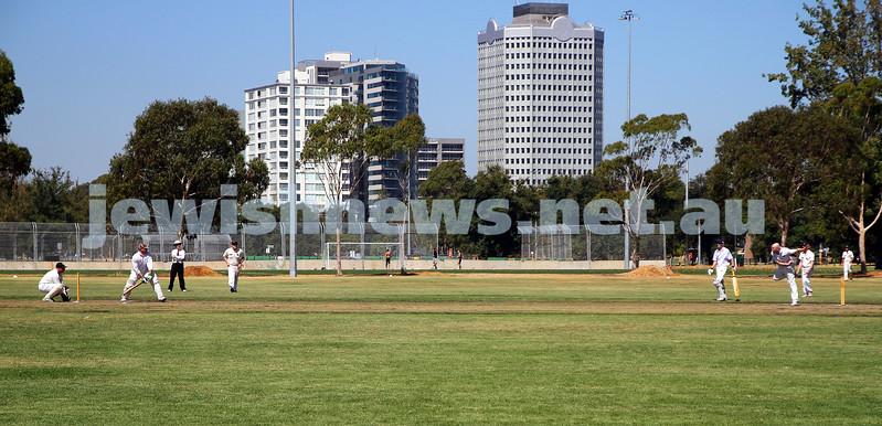 2-2-14. Maccabi Cricket First XI v South Yarra. Gary Smorgon Oval. Photo: Peter Haskin
