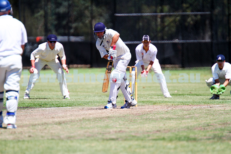 26-1-14. Maccabi Cricket First XI v Sth Yarra. Gary Smorgon Oval. Brad Majtlis. Photo: Peter Haskin