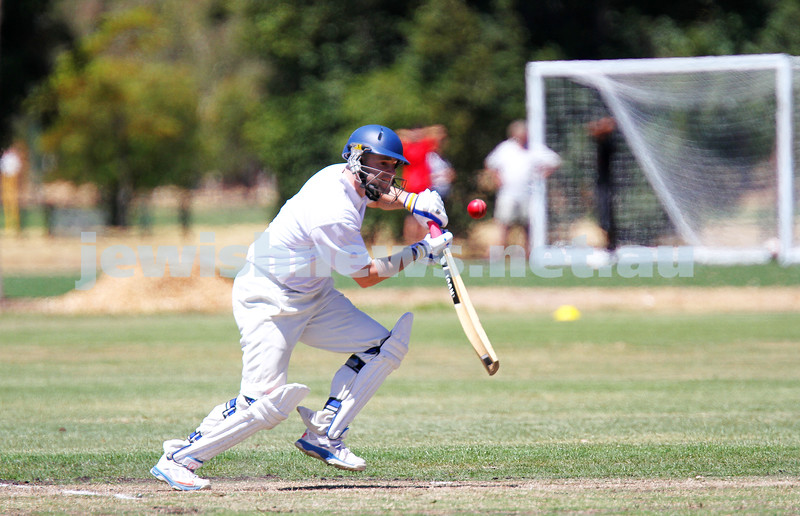 26-1-14. Maccabi Cricket First XI v Sth Yarra. Gary Smorgon Oval. David Majtlis. Photo: Peter Haskin