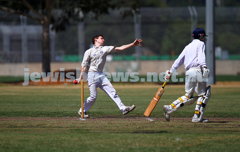 2-2-14. Maccabi Cricket First XI v South Yarra. Gary Smorgon Oval. Photo: Peter Haskin