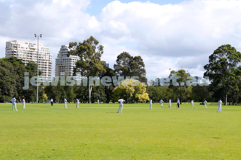 28-3-21. Maccabi AJAX First XI grand final. Defeated by Melbourne Cobras at Fawkner Park.  Photo: Peter Haskin
