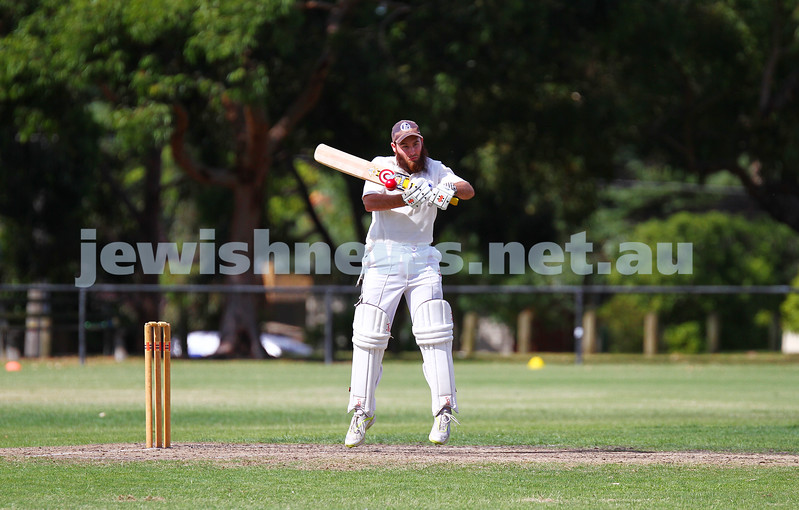 15-2-15. Maccabi Cricket First XI v Emmanual South Oakleigh.   Eli Adelist. Photo: Peter Haskin