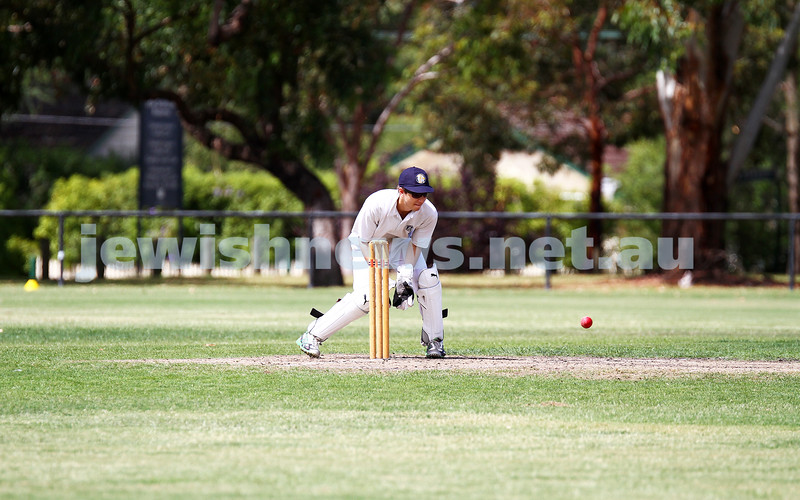 15-2-15. Maccabi Cricket First XI v Emmanual South Oakleigh. Ben Machlin. Photo: Peter Haskin