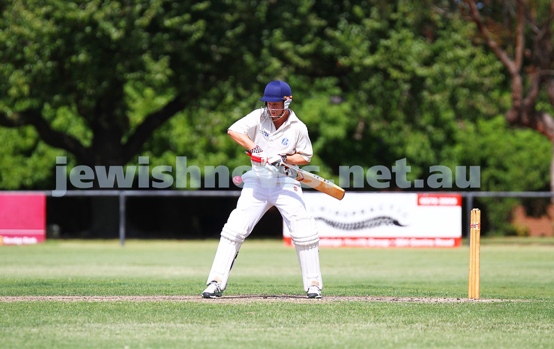 15-2-15. Maccabi Cricket First XI v Emmanual South Oakleigh.   Justin Tyler. Photo: Peter Haskin