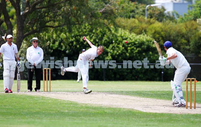15-2-15. Maccabi Cricket First XI v Emmanual South Oakleigh. Josh Jones. Photo: Peter Haskin