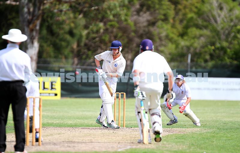 15-2-15. Maccabi Cricket First XI v Emmanual South Oakleigh.   Justin Tyler. Photo: Peter Haskin