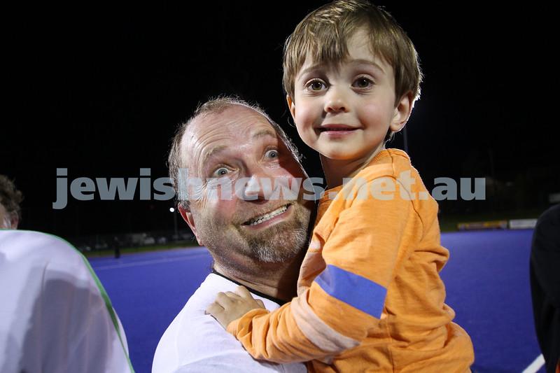 22-9-14. Maccabi Hockey Club Masters defeated Dandenong 3 - 0 to win the premiership. Peter Rubinstein. Photo: Peter Haskin