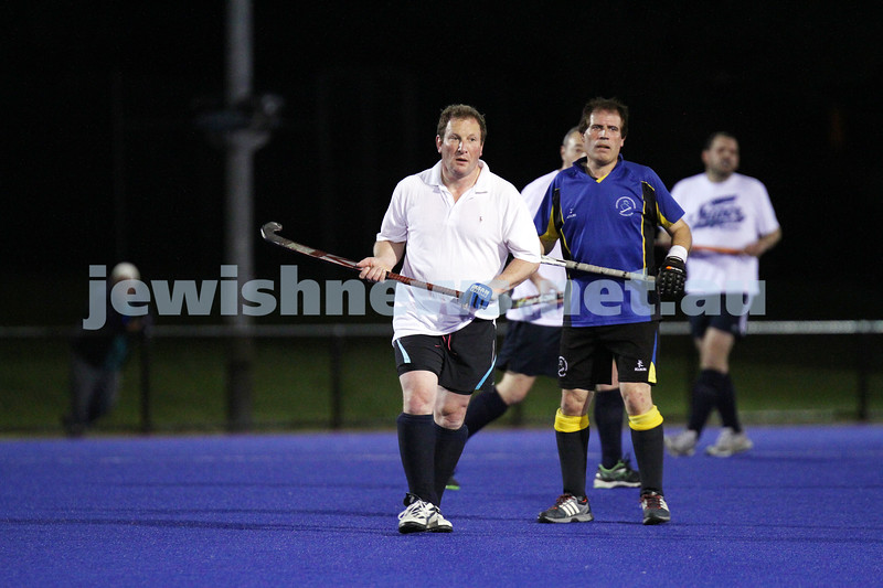 22-9-14. Maccabi Hockey Club Masters defeated Dandenong 3 - 0 to win the premiership. Daniel Grunfeld. Photo: Peter Haskin