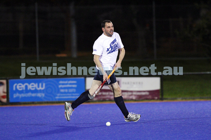22-9-14. Maccabi Hockey Club Masters defeated Dandenong 3 - 0 to win the premiership. David Birnbaum. Photo: Peter Haskin