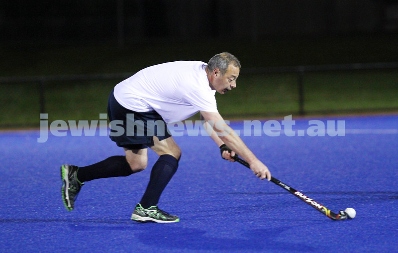 22-9-14. Maccabi Hockey Club Masters defeated Dandenong 3 - 0 to win the premiership. Harley Cohen. Photo: Peter Haskin