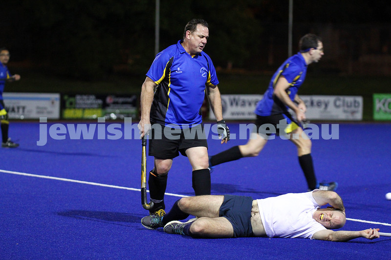 22-9-14. Maccabi Hockey Club Masters defeated Dandenong 3 - 0 to win the premiership. Photo: Peter Haskin