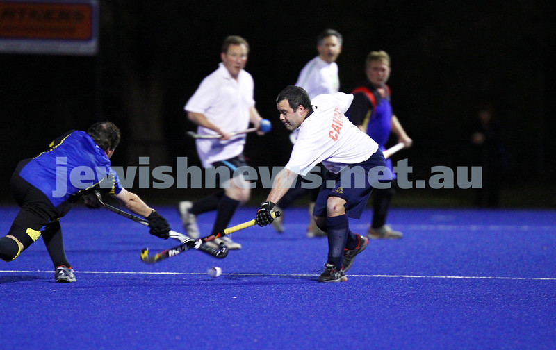 22-9-14. Maccabi Hockey Club Masters defeated Dandenong 3 - 0 to win the premiership. Justin Baigel. Photo: Peter Haskin