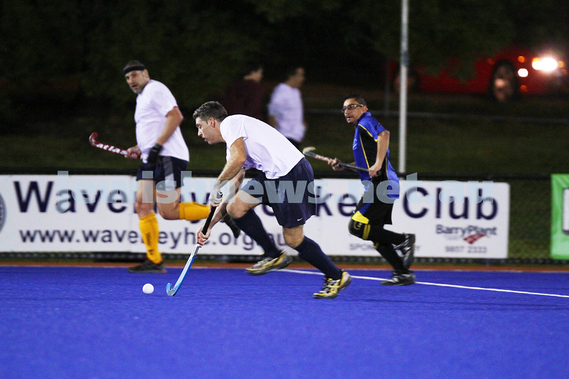 22-9-14. Maccabi Hockey Club Masters defeated Dandenong 3 - 0 to win the premiership. Damien Suss. Photo: Peter Haskin