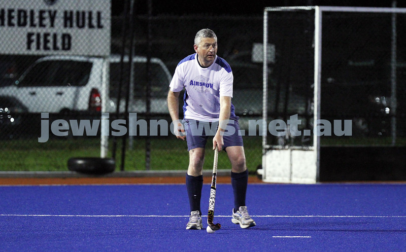 22-9-14. Maccabi Hockey Club Masters defeated Dandenong 3 - 0 to win the premiership. Wayne Levy. Photo: Peter Haskin