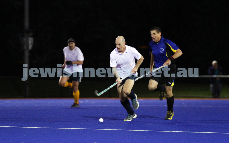22-9-14. Maccabi Hockey Club Masters defeated Dandenong 3 - 0 to win the premiership. Gary Brown. Photo: Peter Haskin