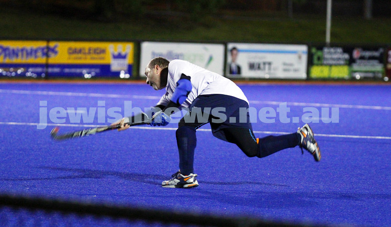 22-9-14. Maccabi Hockey Club Masters defeated Dandenong 3 - 0 to win the premiership. Peter Rubinstein. Photo: Peter Haskin