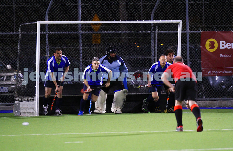 16-9-15. Maccabi Hockey Veterens lost 1 - 2 to Essendon in the grand final.  Photo: Peter Haskin