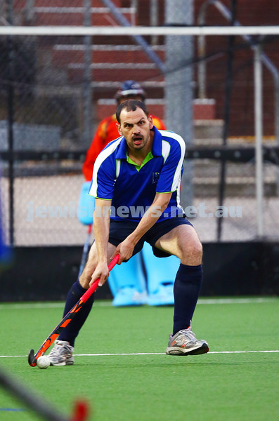 29-2-16. Maccabi Hockey veterans defeated Power House 3-2 in the 2015/16 Summer season grand final. David Birnbaum. Photo: Peter Haskin