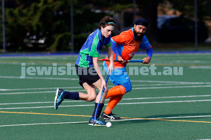 30-6-19. Maccabi Hockey Club Firsts v Craigieburn Falcons. Photo: Peter Haskin