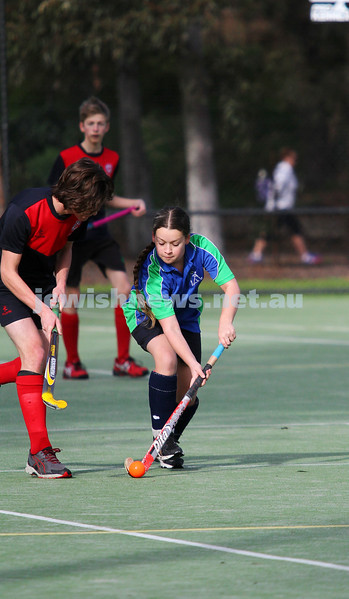 10-8-14. Hockey. Maccabi U 16s defeated MCC Hockey Club 4-0 for their break through win of the season. Timna Gore. Photo: Peter Haskin