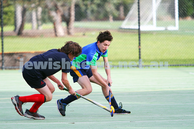 10-8-14. Hockey. Maccabi U 16s defeated MCC Hockey Club 4-0 for their break through win of the season. Photo: Peter Haskin