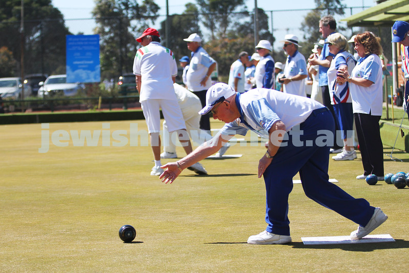 12-10-14. Launch of the Maccabi Ajax Lawn Bowls Club. Caulfield Park Bowls. Gary Hartman.  Photo: Peter Haskin.