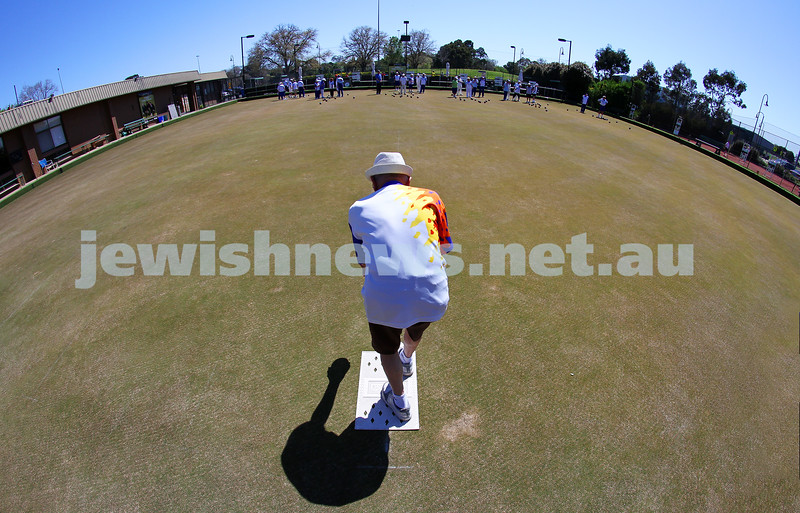 12-10-14. Launch of the Maccabi Ajax Lawn Bowls Club. Caulfield Park Bowls. Photo: Peter Haskin.