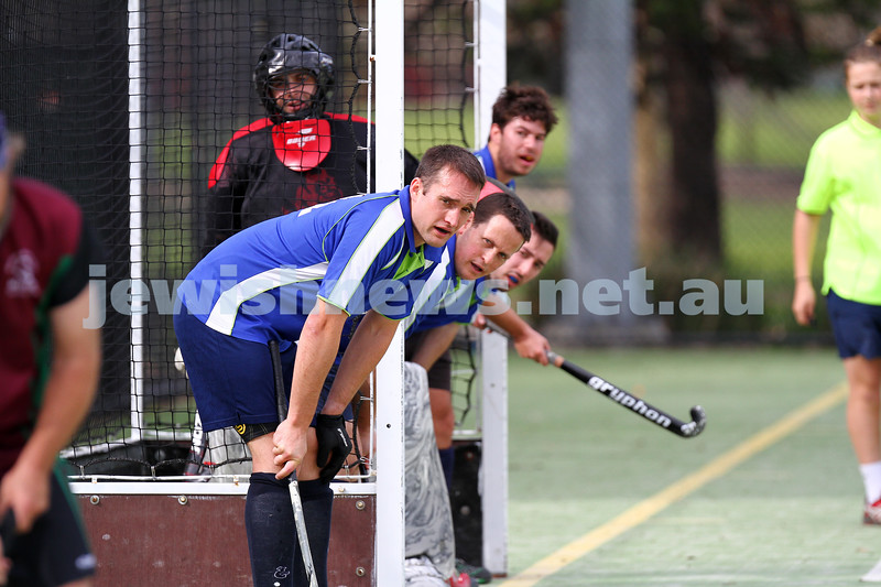 31-8-14. Maccabi Mens Hockey def Melton 5 - 2 in the final game of the sesaon at Albert Park. Photo: Peter Haskin