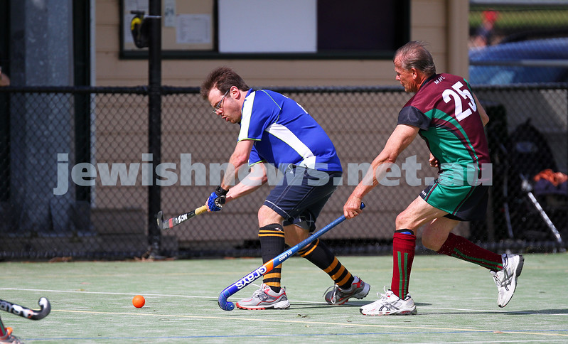 31-8-14. Maccabi Mens Hockey def Melton 5 - 2 in the final game of the sesaon at Albert Park. Mark Lew. Photo: Peter Haskin