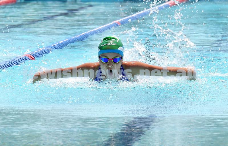 Maccabi NSW Jewish Swimming Championships. Pic Noel Kessel