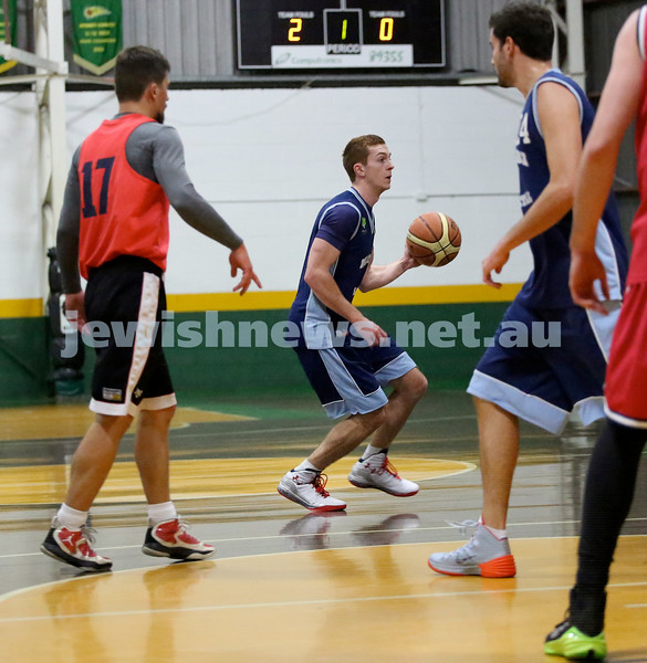 Basketball - Maccabi Kings vs Throwback Cheetahs. Kings lost 62 -32. Zac Ehrenfeld dribbles the ball.