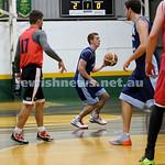Basketball - Maccabi Kings vs Throwback Cheetahs. Kings lost 62 -32. Zac Ehrenfeld dribbles the ball.