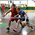 Basketball - Maccabi Kings vs Throwback Cheetahs. Kings lost 62 -32. Zac Ehrenfeld charges forward with the ball.
