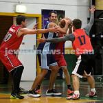 Basketball - Maccabi Kings vs Throwback Cheetahs. Kings lost 62 -32. Daniel Kresner grapples with the ball.