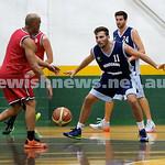Basketball - Maccabi Kings vs Throwback Cheetahs. Kings lost 62 -32. Desi Kohn & Ricky Clennar in defense.