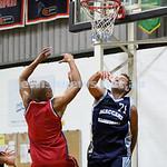 Basketball - Maccabi Kings vs Throwback Cheetahs. Kings lost 62 -32. Daniel Kresner attempts to deflect the ball.