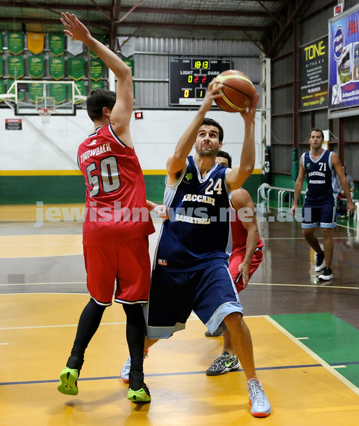 Basketball - Maccabi Kings vs Throwback Cheetahs. Kings lost 62 -32. Ricky Clennar with the ball.