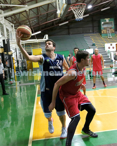 Basketball - Maccabi Kings vs Throwback Cheetahs. Kings lost 62 -32. Ricky Clennar grabs the ball.