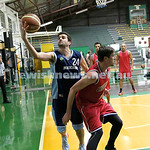 Basketball - Maccabi Kings vs Throwback Cheetahs. Kings lost 62 -32. Ricky Clennar grabs the ball.