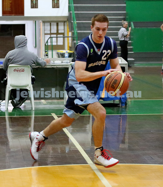 Basketball - Maccabi Kings vs Throwback Cheetahs. Kings lost 62 -32. Zac Ehrenfeld.