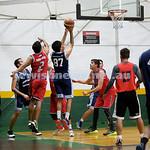 Basketball - Maccabi Kings vs Throwback Cheetahs. Kings lost 62 -32. Brad Nissen shoots a basket.