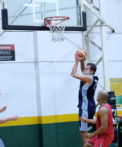 Basketball - Maccabi Kings vs Throwback Cheetahs. Kings lost 62 -32. Daniel Kresner takes a rebound.