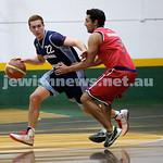 Basketball - Maccabi Kings vs Throwback Cheetahs. Kings lost 62 -32. Zac Ehrenfeld dribbles around a player.