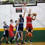 Basketball - Maccabi Kings vs Throwback Cheetahs. Kings lost 62 -32. Desi Kohn in the air attempting to block a shot.