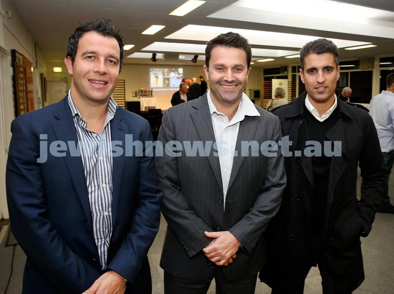 2015 Maccabi NSW Annual Jewish Sports Awards. Adam Joseph, Phil Opit, Rani Rimmer.